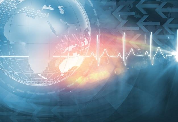 Global health news background