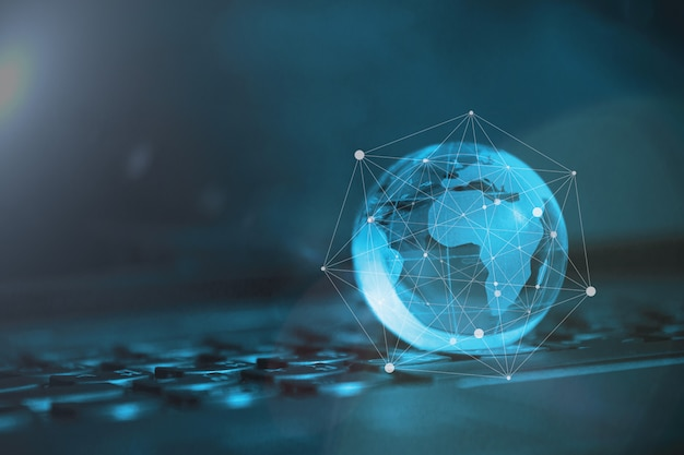 Global & international business concept. world connected. social network concept.
