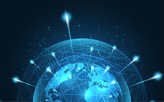 Global network connection abstract technology background