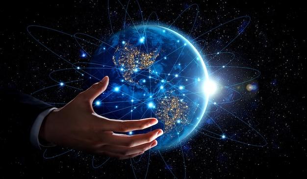 革新的な認識のリンクで地球をカバーするグローバルネットワーク接続