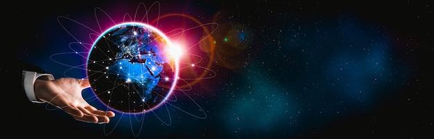Подключение к глобальной сети, покрывающее землю