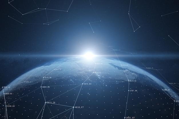 世界のグローバルネットワーク接続