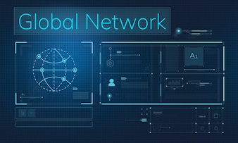 Global network illustration