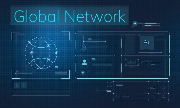 글로벌 네트워크 일러스트레이션