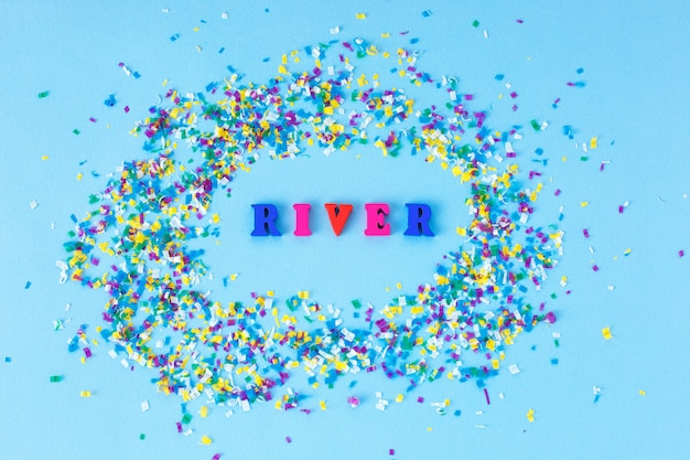 Global river pollution. microplastic in water and food.