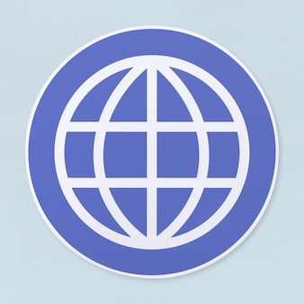 Global searching icon on white background