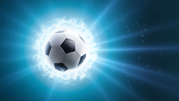 Global soccer energy. background