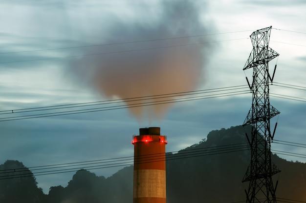 지구 온난화 공장 배출 오염