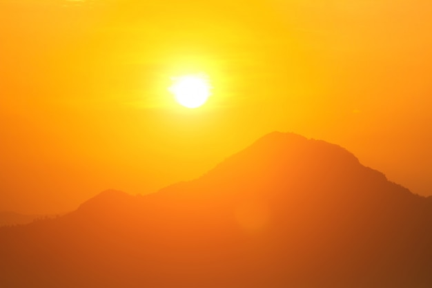 Global warming from the sun and burning, heatwave hot sun, climate change