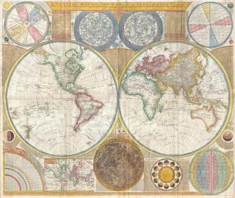 Global world map continents globe