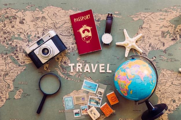 세계 및 관광 용품지도