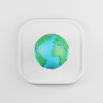 Globe icon cartoon style