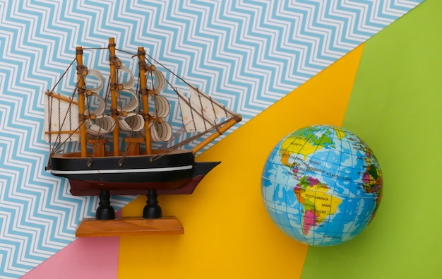 Globe and ship