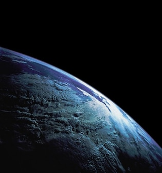 Globe sky shuttle earth atmosphere clouds space