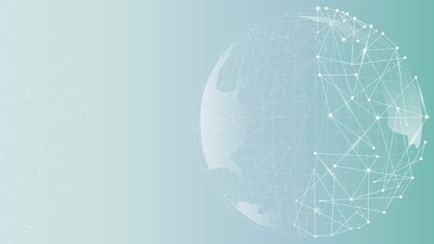 グラデーション壁紙を使用したグローブテクノロジービジネス
