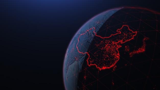 中国コロナウイルスの世界がアジアに広がる
