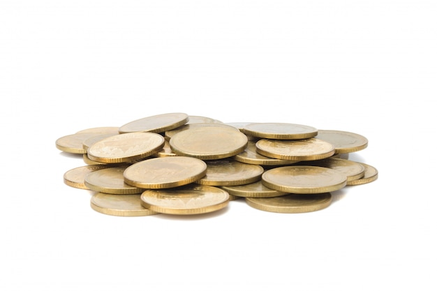 Glod coin stack.