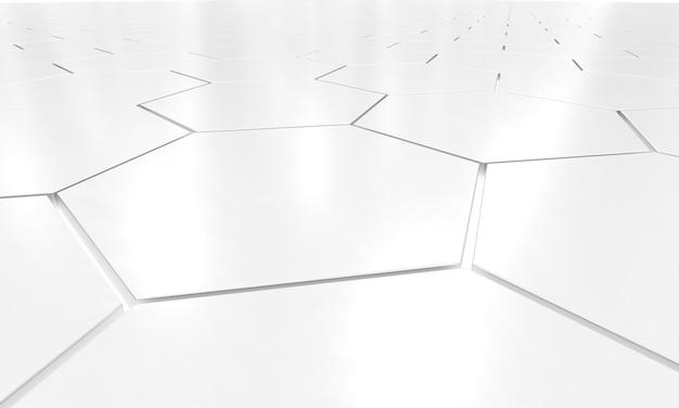 Glossy metallic hexagon geometry shape background.