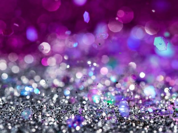 Glossy multicolored glitter