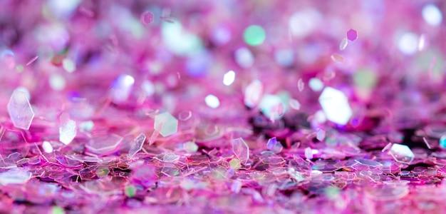 光沢のあるピンクのキラキラ