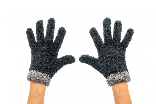 Gloves on white background
