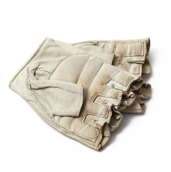 Gloves without finger on white background