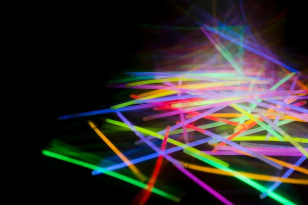 Glowing abstract florescent light tube