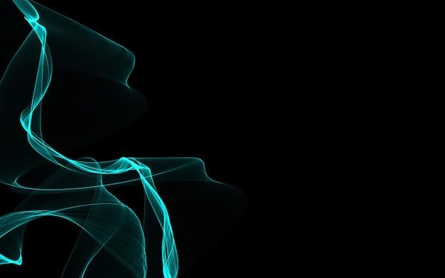 輝く抽象的な波