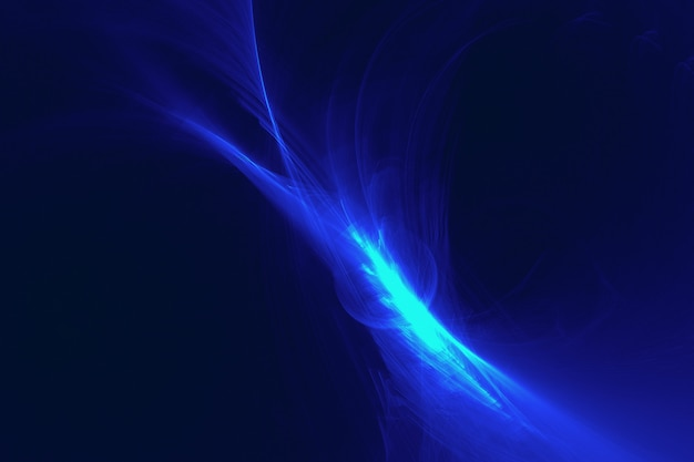 Glowing blue abstract light effect background