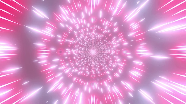 Glowing color changing4k uhd space particles tunnel 3d illustration