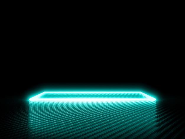 Glowing frame on carbon fiber