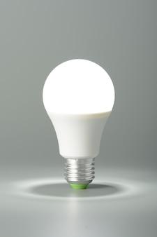 회색 배경에 빛나는 led 빛