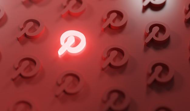 輝くパスのロゴパターン