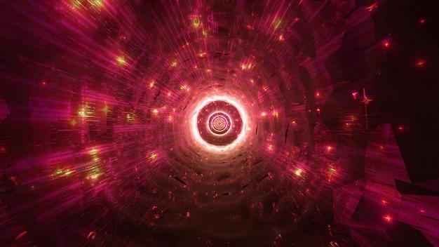 輝くスペース穴ネオン星3dイラストvfx背景壁紙