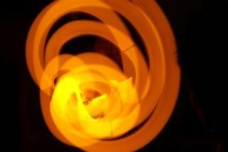 オレンジ色のスティック、glowsticks
