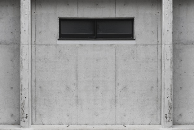Glss window on aged cement concrete wall background. for any vintage design work.