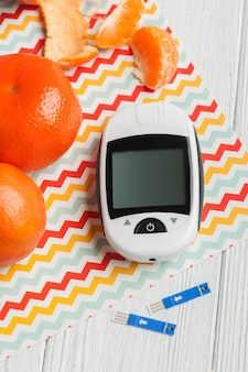 Glucose meter orange clemetines