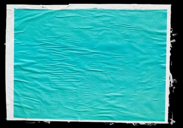 Glued wrinkled color paper poster texture