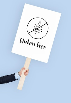 글루텐 프리 건강한 라이프스타일 컨셉