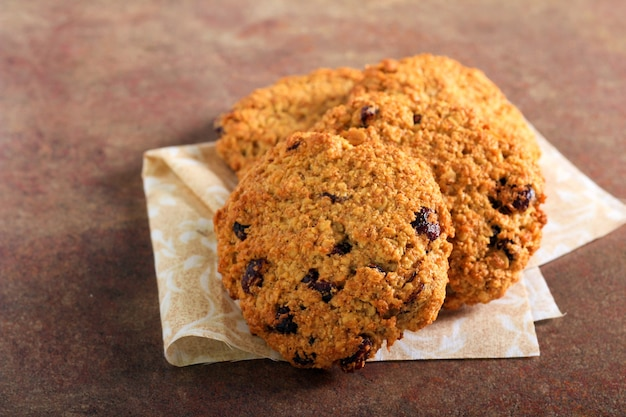 Gluten free oatmeal cookies with cranberry