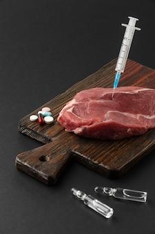Gmo 화학 변형 식품 육류