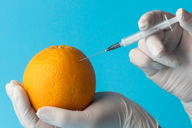 Gmo chemical modified food oranges
