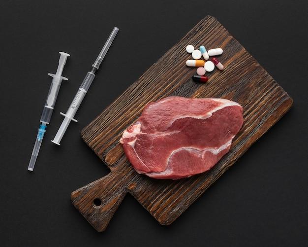 遺伝子組み換え肉と丸薬