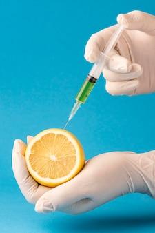 Gmo 과학 식품 레몬 반