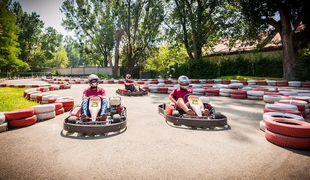 Go kart speed drive race sport contest