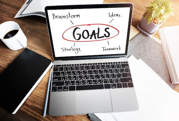 目標ビジネスブランド立ち上げ企業の成功コンセプト
