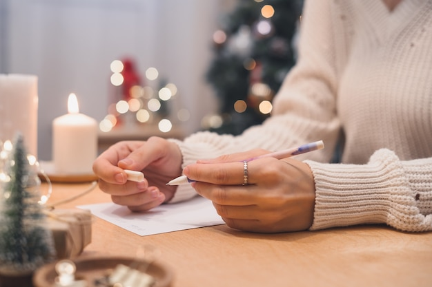 Планы целей и список желаний для написания новогодней рождественской концепции в блокноте