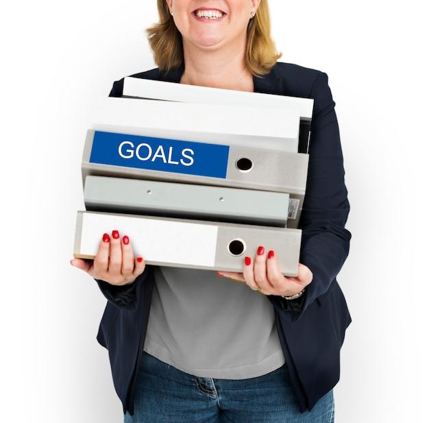 Goals target business work concept
