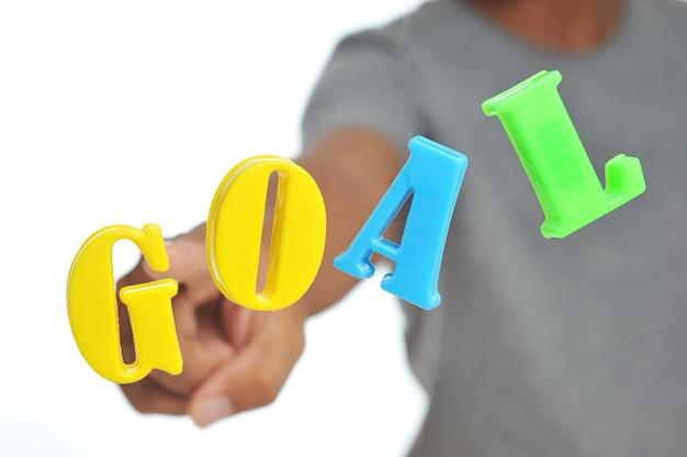 目標の言葉の概念。事業計画。ビジネスターゲット。