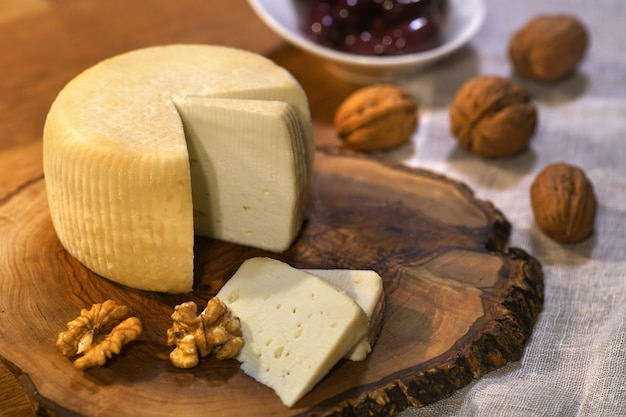 Goat cheese and walnuts